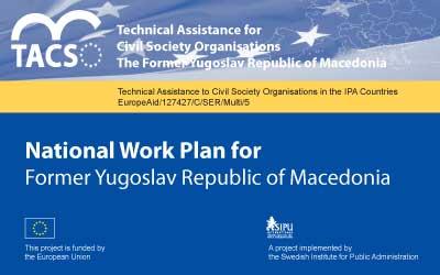 National Work Plan for the Former Yugoslav Republic of Macedonia