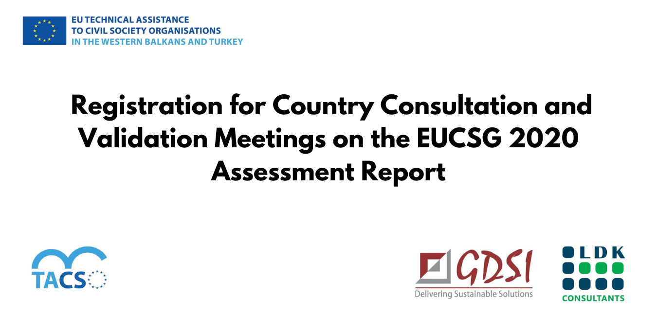 Registration for Country Consultation and Validation Meetings on the EUCSG 2020 Assessment Report is Now Opened