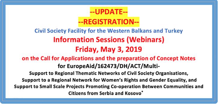 Information Sessions (Webinars)